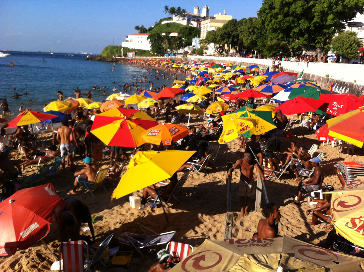 Barra Beach, Salvador, Brazil, Friday afternoon, 3rd January 2014